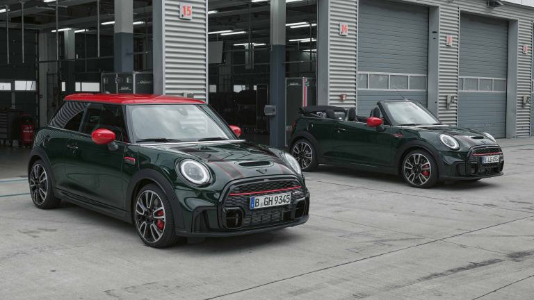 MINI John Cooper Works – front view green and red – model comparison